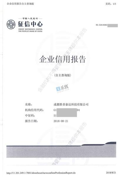 借款企业征信报告